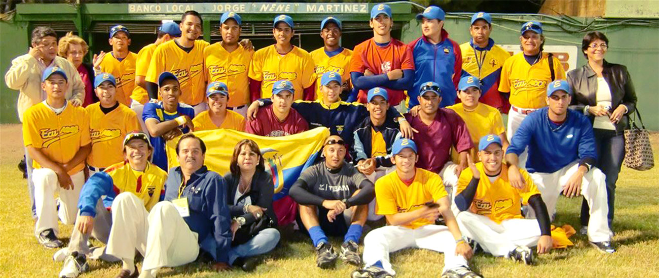 Ecuador national baseball team photo in 2011.