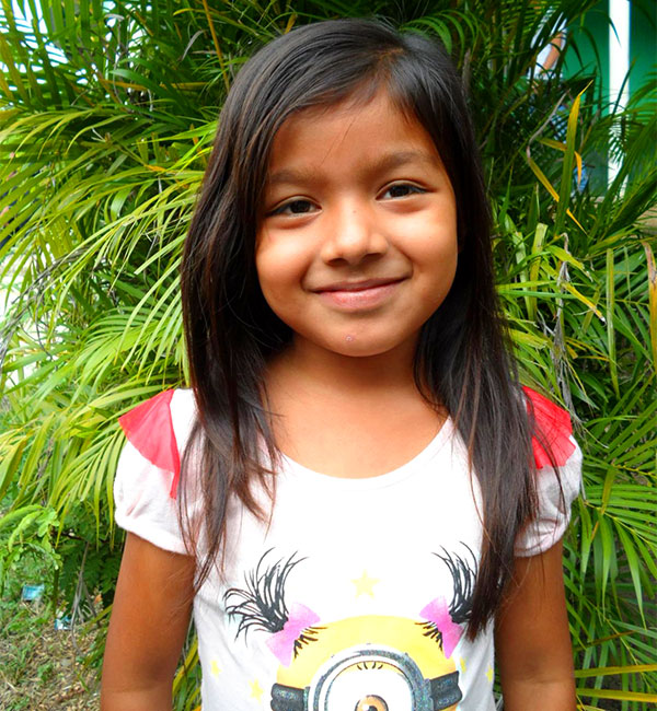 The gallery's sponsored child, Marcela.