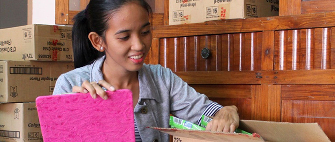 Into Employment helped Joan Gonzalez land a job at a soap distributor in the Philippines.