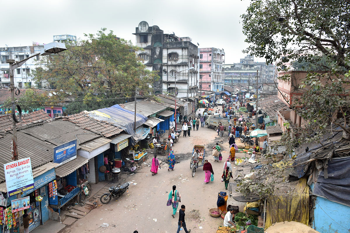Typical city scene in Kolkata, India