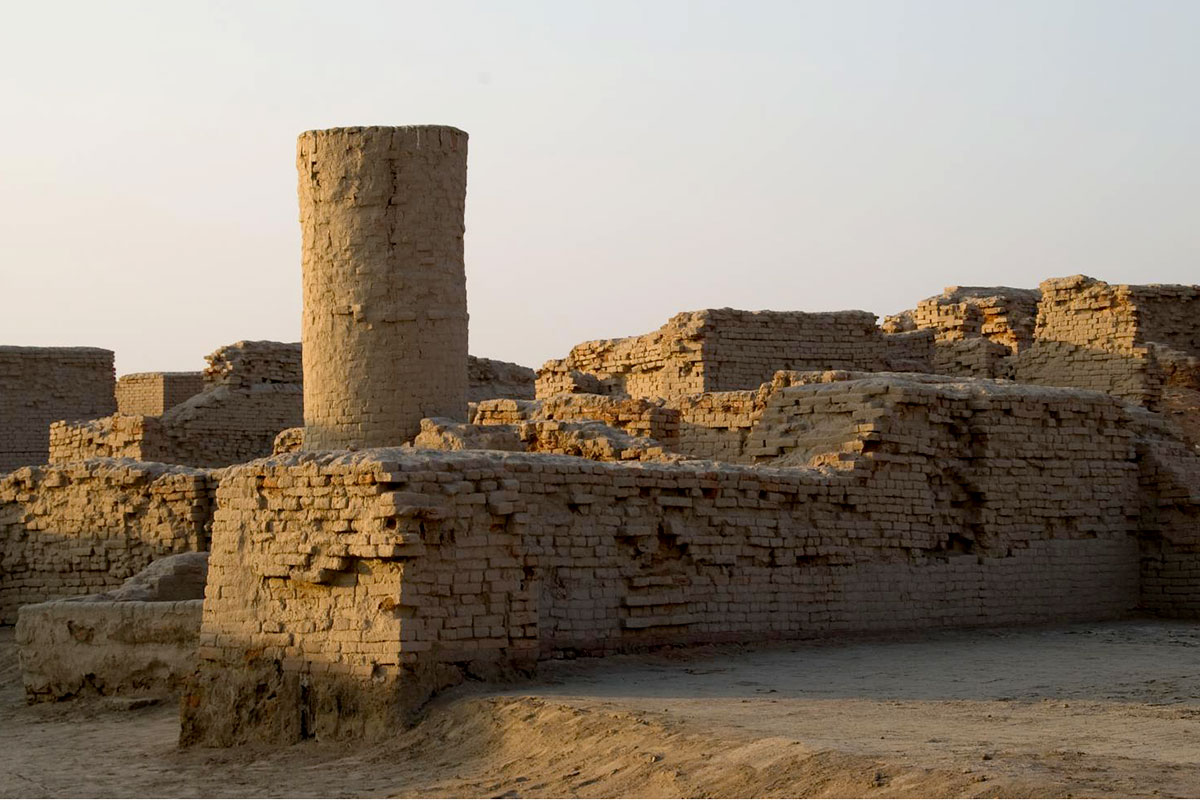 Crumbled remains of Mohenjo Daro city in India