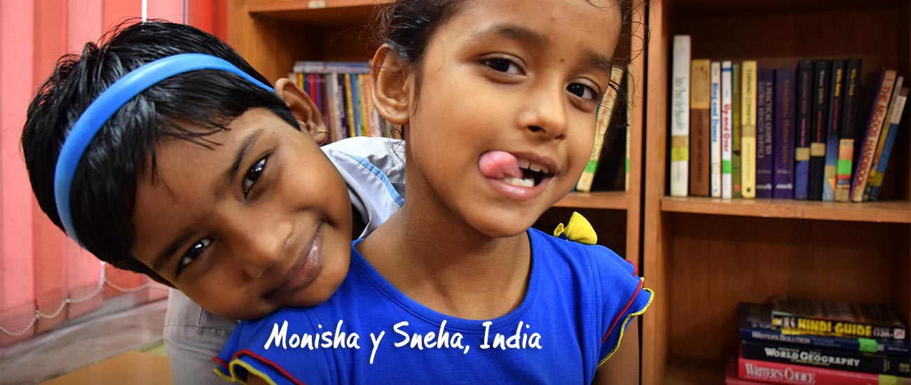Retrato de Sneha y Monisha