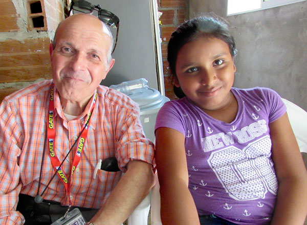 Sponsor Anthony visits with sponsored child Maria