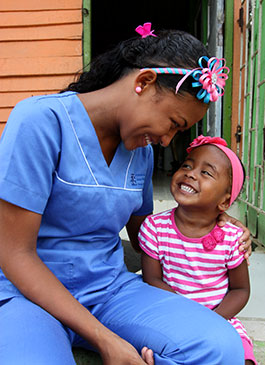 "Smile time: ""Although I have a daughter and I'm a single mother, I can take care of her needs and help my mother,"" explains Cindy happily."