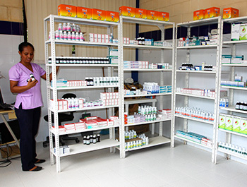 Children International's pharmacies are stocked with free medication to help sponsored children recover from illness.