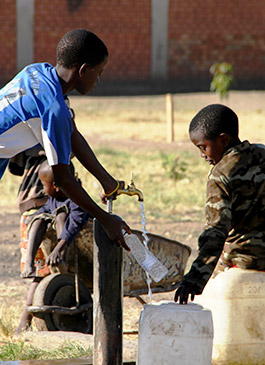 Difficult living conditions in Africa