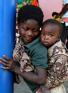 Children in poverty in Africa