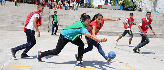 Sponsored Teens patricipate in a Sports for Development activity.