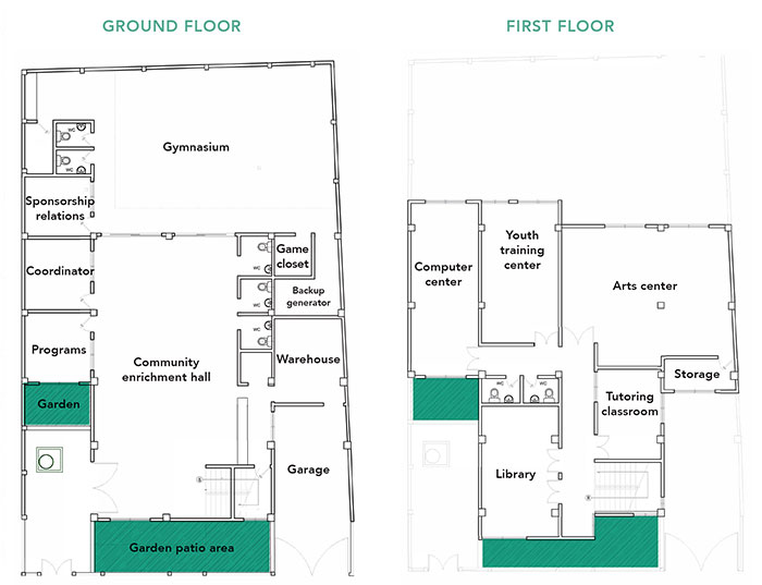 Cartagena Community Center and Youth Resource Center Floor Plan