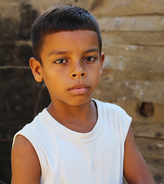 Adrian is 9 and lives in Colombia