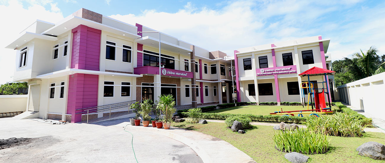 Children International community center and youth resource center buildings in the Philippines