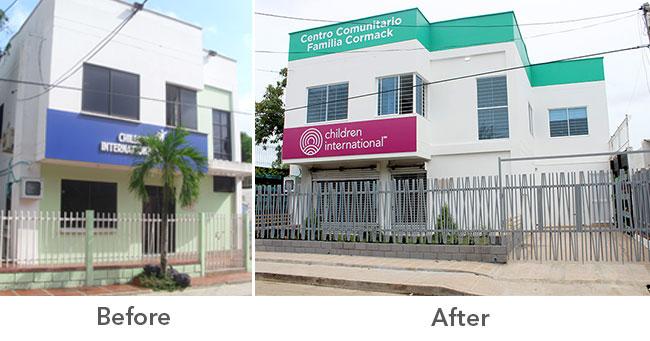 Room To Grow Cartagena Community Center Renovations