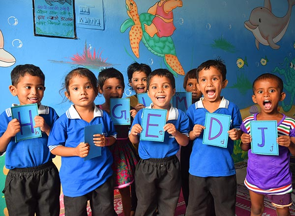 Children International's ECD program helps get kids on the right track for being successful in school by giving them a head start on English, math, art and music.