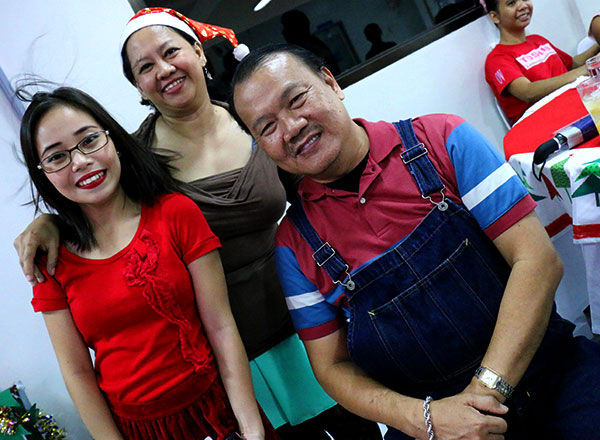 """Mary Mae with other CI staff in Manila."""""""