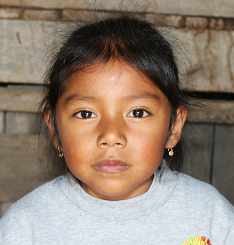 5-year-old Rafaela lives in poverty in Quito, Ecuador.