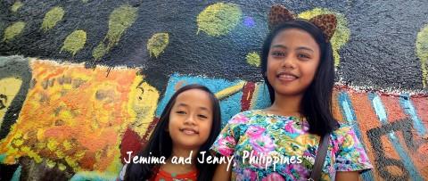 Jemima and Jenny smiling