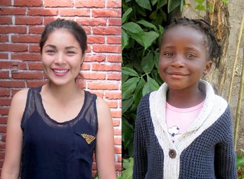Cynthia apadrina a Tania (18 años) en México y Elizabeth (5 años) en Lusaka.