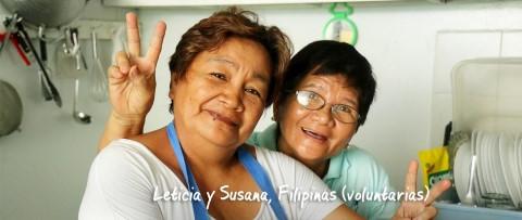 Leticia y Susana en el centro comunitario