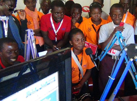 The Community Your Reporters in Lusaka visit a local radio station