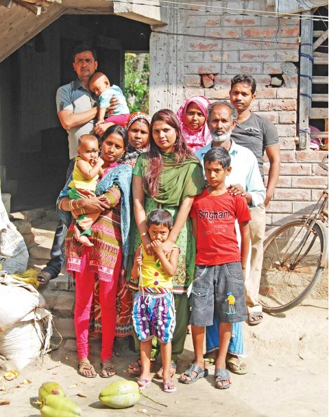 Shanaz was able to buy her family a bigger home.