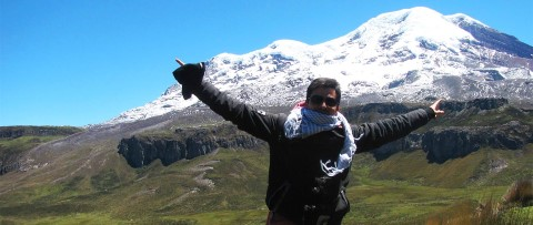 Former sponsored child at the Ecuadorian Andes mountains