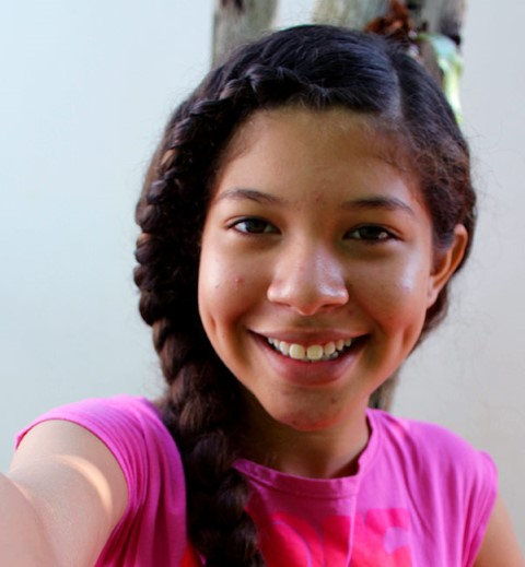 Estefany in Colombia takes a selfie