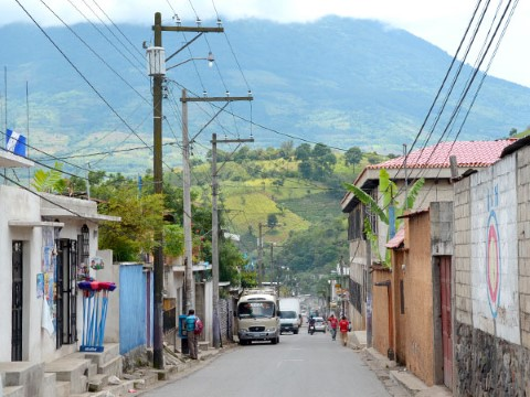 Vista de una comunidad en Guatemala