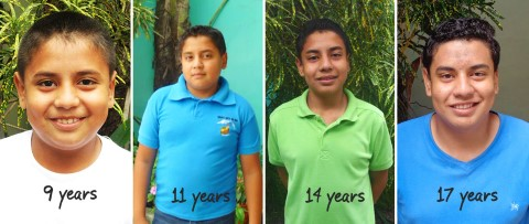 Theo Moumtzidis' sponsored child Leo in Ecuador