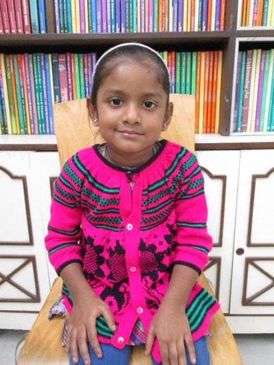 Help Ritika by becoming a child sponsor. Sponsoring a child is a rewarding and heartwarming experience.
